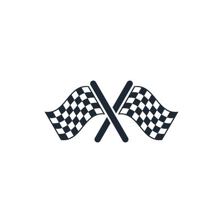start to cross: start finish cross flags icon