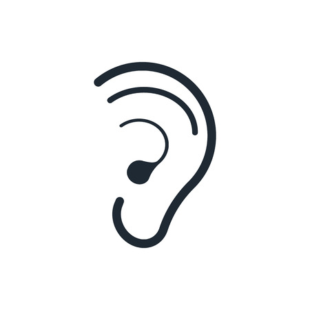 yes or no: hearing ear icon