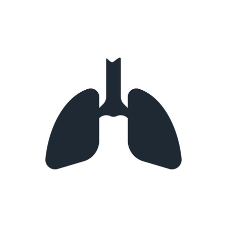 medical laboratory: lungs icon