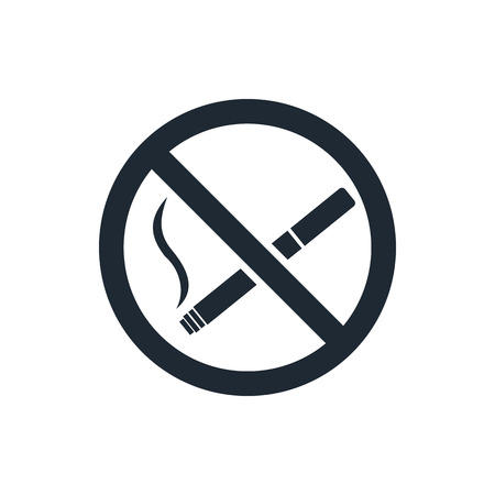 no problems: No smoking sign icon