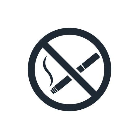 prohibido fumar: Sin icono signo de fumar Vectores