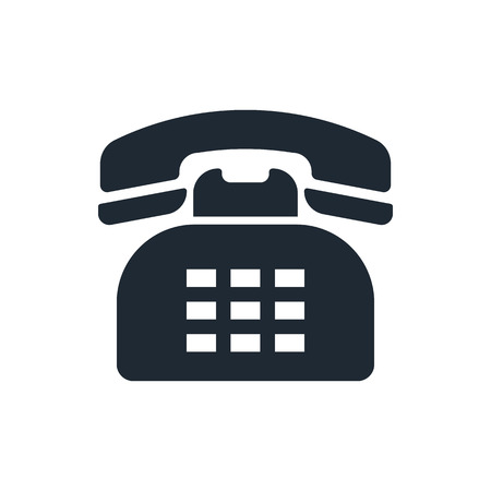 telephone icon: retro telephone icon