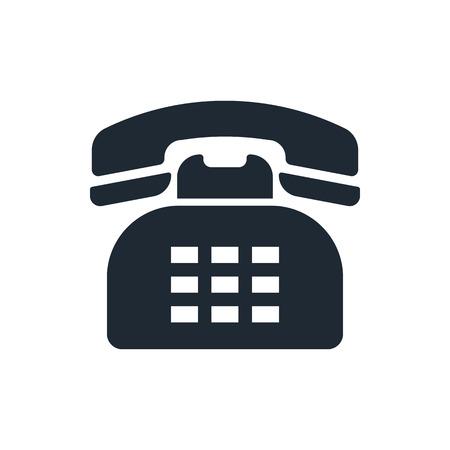 telephone: retro telephone icon