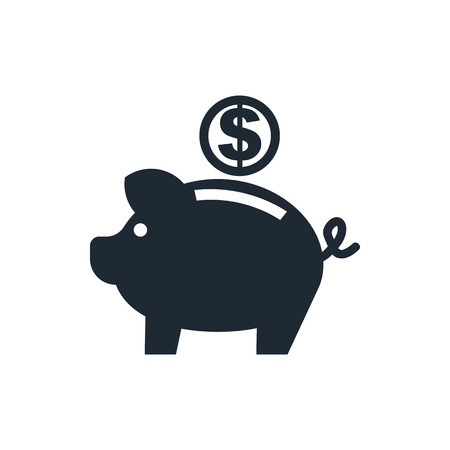 bank money: piggy bank icon