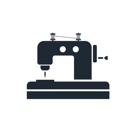 textile industry: Sewing Machine icon Illustration
