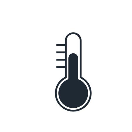thermometer: Icono del termómetro Vectores