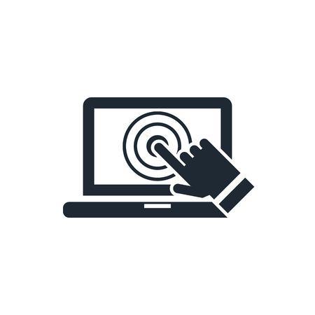 toque: laptop screen touch icon Ilustra��o