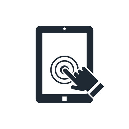 tablet touch screen icon Illustration