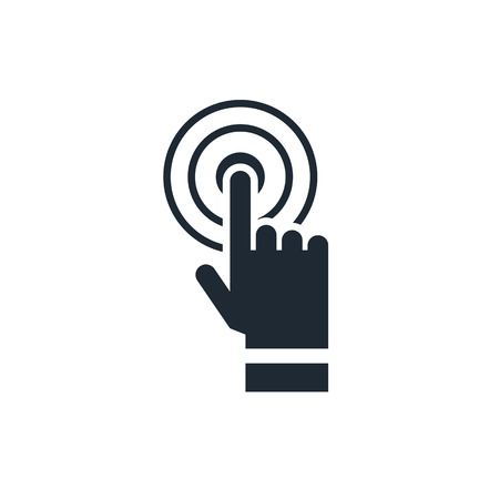 hand touch: Hand touching icon