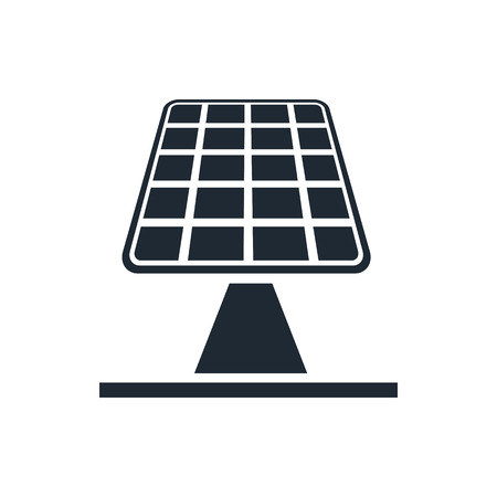 solar symbol: solar panels icon