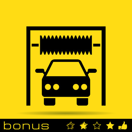 operated: car wash sign icon