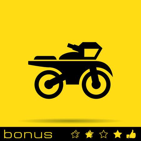 pandilla: icono de la muestra de la motocicleta Vectores