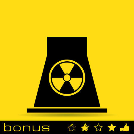 fission: nuclear Power Plant icon Illustration
