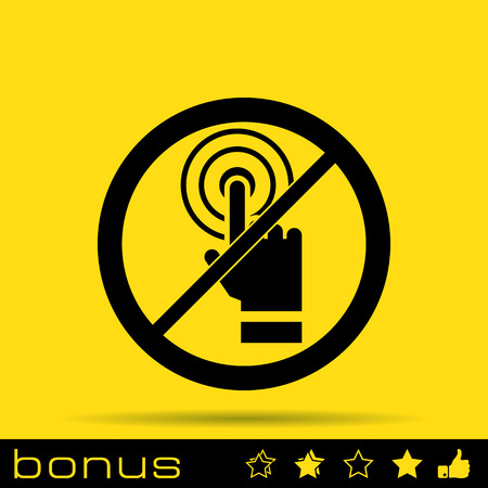 admittance: no touch icon Illustration