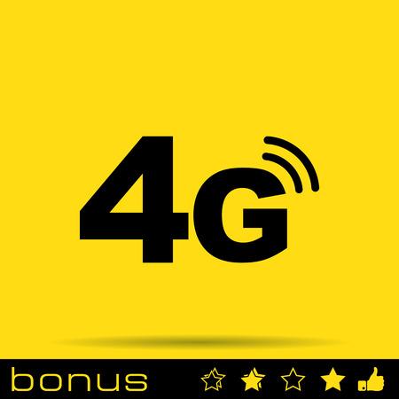 satellite transmitter: 4g mode technology icon