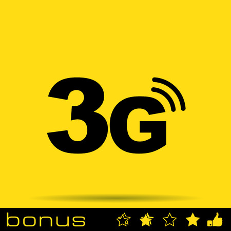 3g: 3g mode technology icon Illustration