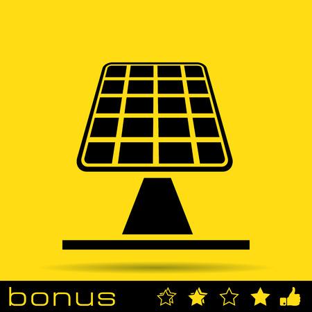 paneles solares: paneles solares icono Vectores
