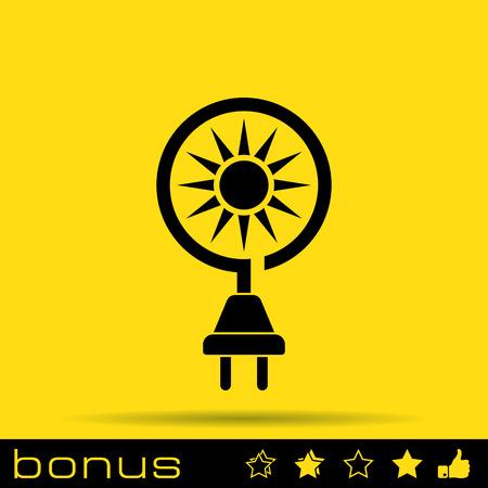 electricidad industrial: icono de la energía solar Vectores