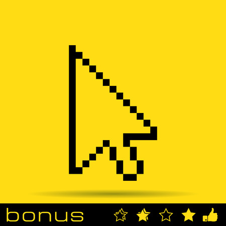 three points: pixel arrow cursor