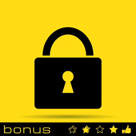 closed lock: lock icon