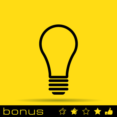 bulb icon: outline light bulb icon