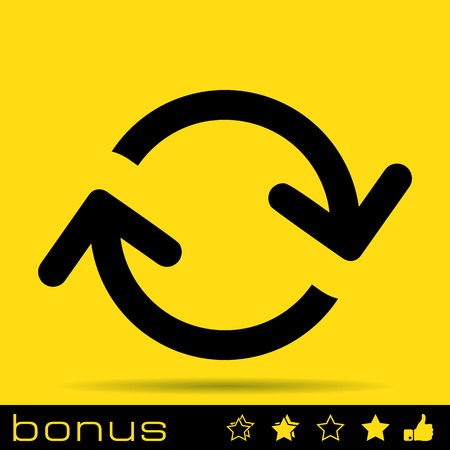 navigation pictogram: arrows loop icon Illustration