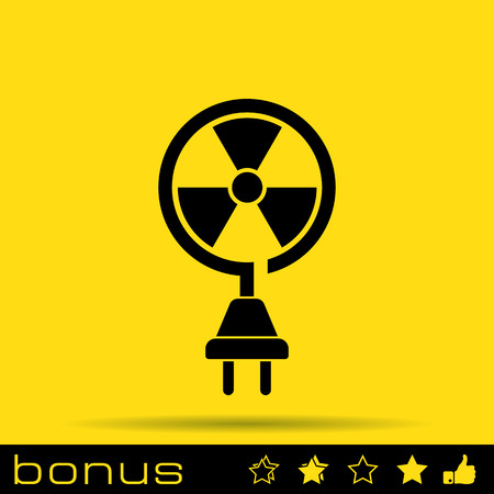 fission: nuclear energy icon Illustration