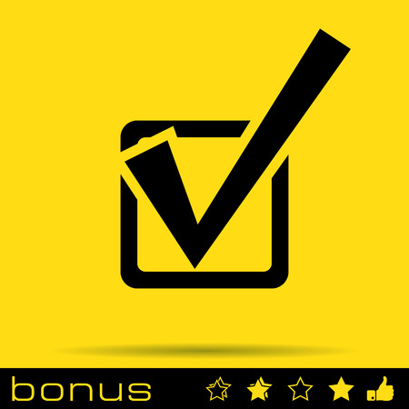 voting box: check mark icon Illustration