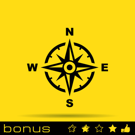 brujula: icono de br�jula  Vectores