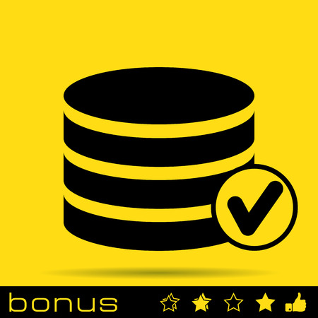 selected: selected database icon Illustration