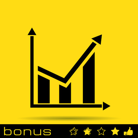 demography: chart icon Illustration