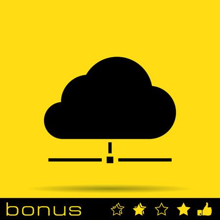 conection: icono de datos en nube Vectores