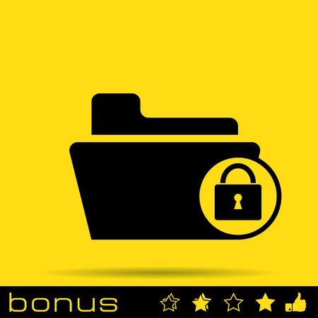 uploading: lock folder icon Illustration
