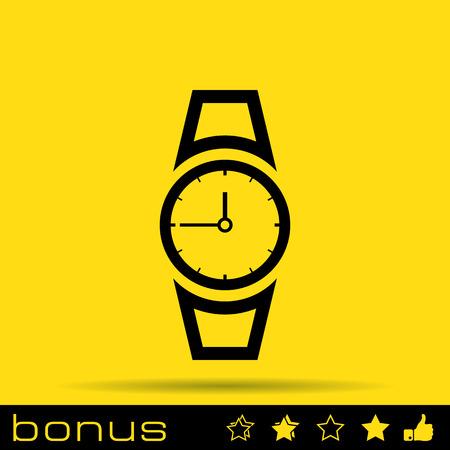 hand clock icon Illustration