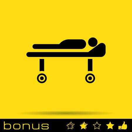 reanimation: medical barrow icon