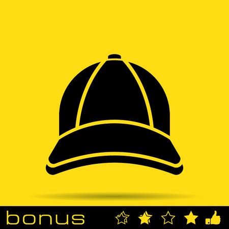gorro: icono de la gorra de b�isbol Vectores