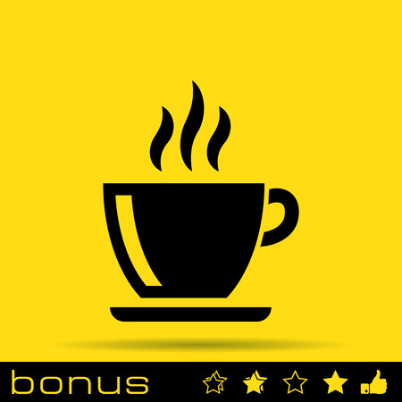 coffe beans: coffe cup icon