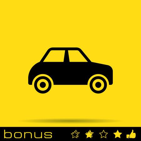 auto sign: muestra del coche icono