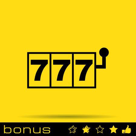 roulette online: casino icon Illustration