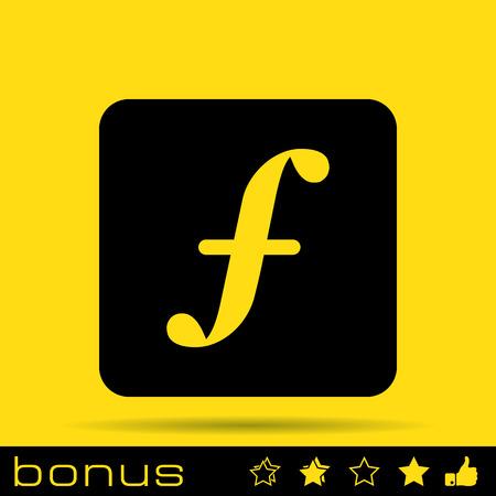 followers: Icona f lettera