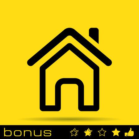 Outline page d'accueil icône