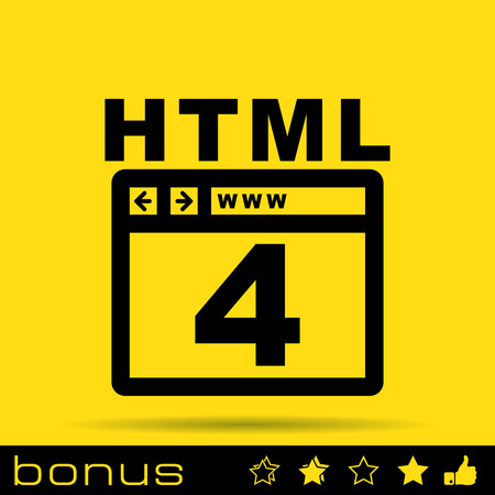 html: HTML 4 icon Illustration
