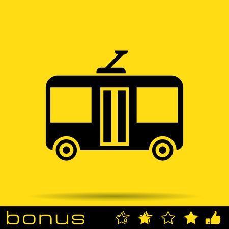 trolleybus: trolleybus sign icon
