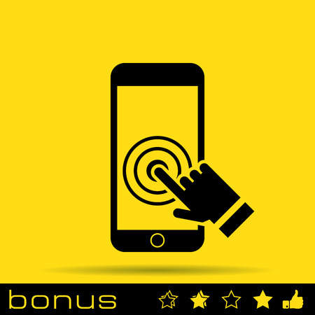 touch: Touch screen smartphone icon Illustration