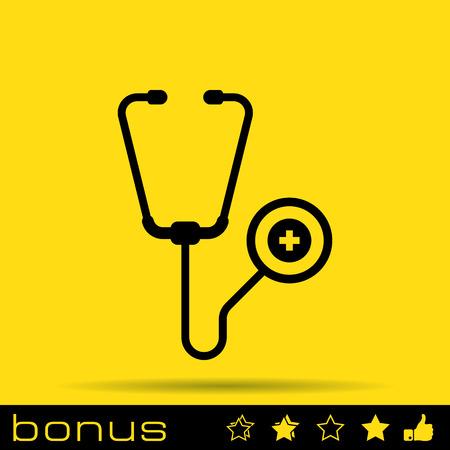 fonendoscopio: icono estetoscopio
