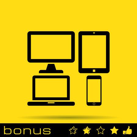 responsive design: responsive web design icon Illustration