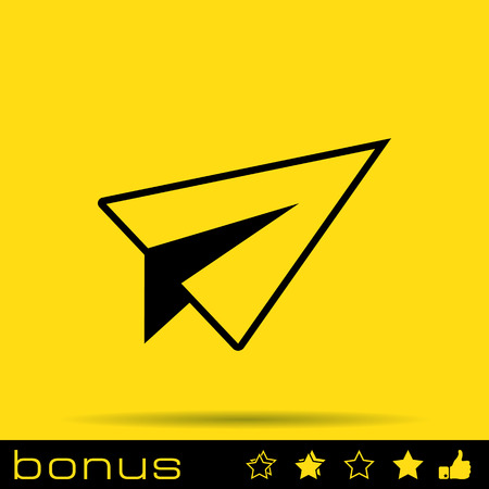paper plane start up icon Vector