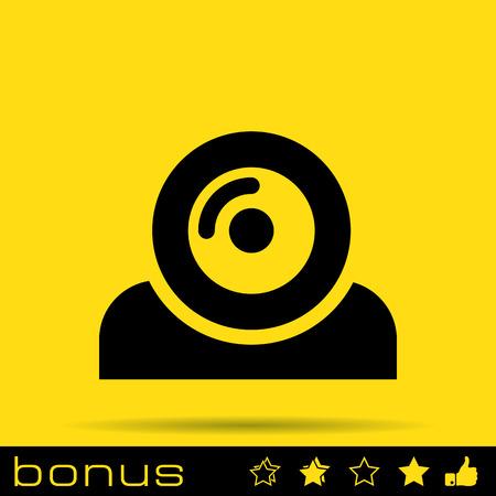 web camera: web camera icon Illustration