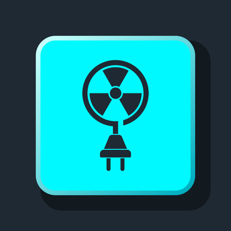 caution chemistry: nuclear energy icon Illustration
