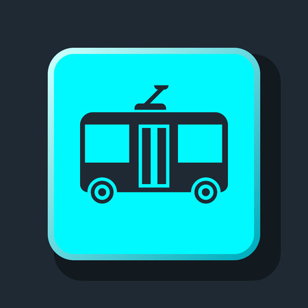 trolleybus: trolleybus sign icon
